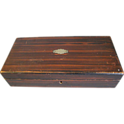 Vintage Man's Wood Glove/Tie/Handkerchief Box