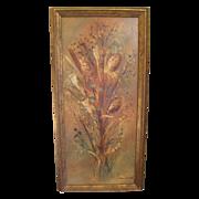 Vintage Oil Painting on Masonite, Beautifully Framed