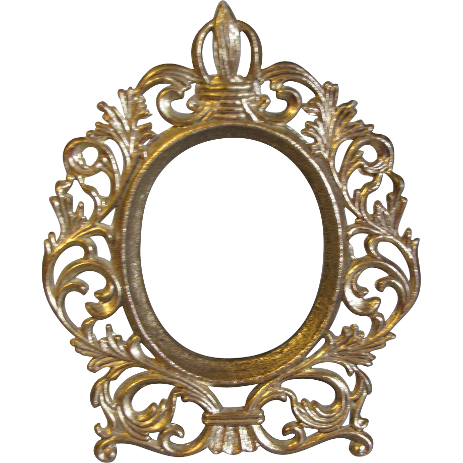 Small Vintage Oval Table Top Photograph Frame From Tomjudy