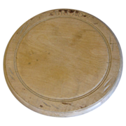 Vintage Round Carved Bread Board, English, BREAD