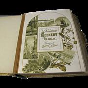 Lovely 1884 Victorian Photograph Album, AMERICAN SCENERY