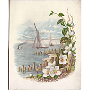 SALE Cover Page From Victorian Photograph Album