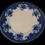 19th C. Flow Blue Plate, W. Adams & Sons