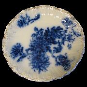 Lovely Flow Blue Plate, Chrysanthemums