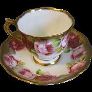 Gorgeous Royal Albert Crown China Cup & Saucer, ROSES