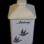Highly Collectible Bluebird Spice Jar (Canister) NUTMEG