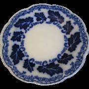 Lovely Flow Blue Bread & Butter Plate, NORMANDY