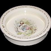 Vintage Wedgwood Beatrix Potter Baby Dish Mrs. Tiggy-Winkle