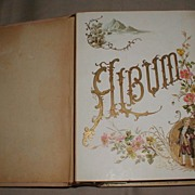 Lovely Victorian Celluloid Cover Photograph Album, Floral Pages