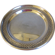 """Lovely Pierced Silver Plated 8"""" Plate (3 Avail)"""