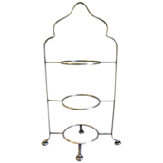 SOLD Vintage 3-Tier Silver Plated Cake Stand, Birmingham Handicraft
