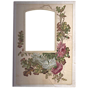 SALE Colorful Page from Victorian Photograph Album