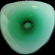 Lovely Vintage Green Art Glass Bowl