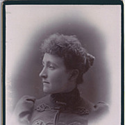 SALE Cabinet Photograph of Young Woman