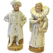 Pair of Vintage Staffordshire Figures, Henry VII & Elizabeth I