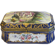 Gorgeous Antique French Porcelain Casket, Signed R. Coulory