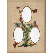 SOLD Colorful Page from Victorian Photograph Album, Butterflies