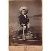 SOLD Cabinet Photograph Card, Young Boy with Shovel & Pail
