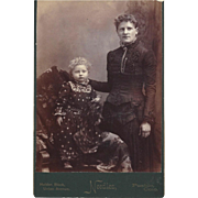 SOLD Unusual Cabinet Photograph Card of Mother & Child