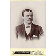 SOLD Cabinet Photograph Card, Young Man