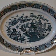 Flow Blue Platter, MANDARIN, Pountney & Co.
