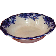Lovely (As Is) Flow Blue Bowl, Unmarked and Unidentified