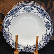 Flow Blue Soup Plate, ARGYLE, Adderleys Ltd. (2 Available)