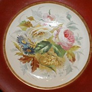 Pair of Early Hand-Painted Floral Porcelain Soup Plates