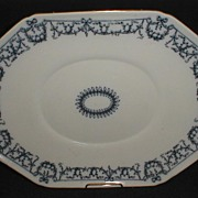 Large Lovely English Staffordshire Platter (Tray) BRAZIL BWM & Co. 1884