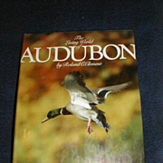 """REDUCED Lovely Collectible Coffee Table Book, """"The Living World of Audubon"""" Clement"""