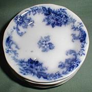 Lovely Flow Blue Butterpat ELSIE New Wharf Pottery