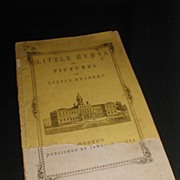 REDUCED Antique Children's Book, Little Hymns and Pictures for Little Readers.