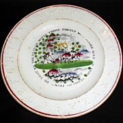 Franklin's Proverbs ABC Plate Staffordshire England