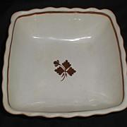 Alfred Meakin Square White Ironstone Bowl, Tea Leaf