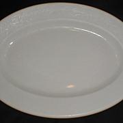 Early White Ironstone Platter, Oval, Mayer China
