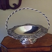 Silver Plated Basket With Grape And Leaf Border By Forbes Silver Co.