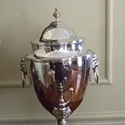 SALE Fabulous 19TH Century Silver On Copper Samovar