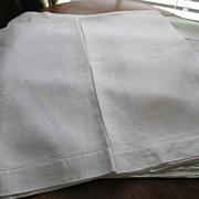 "Pr. Oversized European Damask Linen 25 x 40"" Towels C:1940"