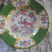 "Set Of 6 ""Cocatrice Green"" By Minton Bread Plates"