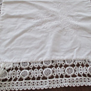 Linen/ Lace Pajama Bag