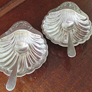 SALE Pr. Master Sterling Salts and Spoons