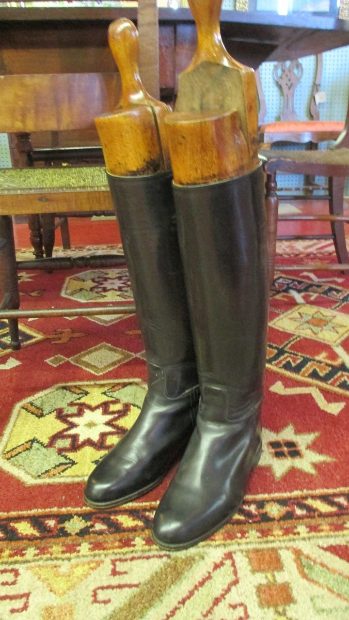 English Riding Boots & Wooden Trees