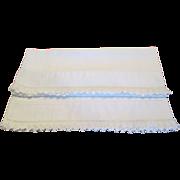 Pr. Vintage Linen Pillow Cases