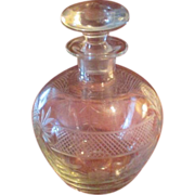 Unusual Etched Spirits Decanter