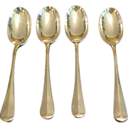 """Hanoverian Rat Tail 8 5/8"""" Serving Spoon (4 Available)"""
