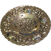 """SALE 16"""" Hanging Silver Plated COYA Bowl C:1940"""