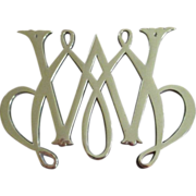 Williamsburg William And Mary Brass Trivet