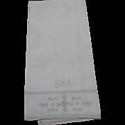 Set Of 4 Italian Reticello Towels C:1940