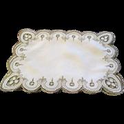 Vintage Set Of 8 English Linen Luncheon Mats