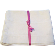 Pr. Vintage English Linen Pillow Cases